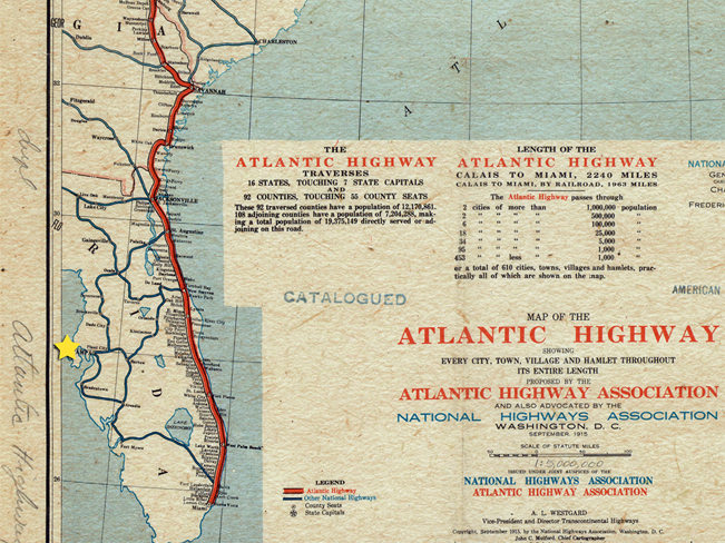 1926 Route to Florida